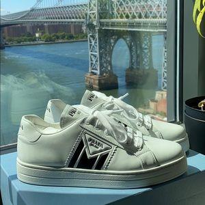 PRADA Logo White Sneakers